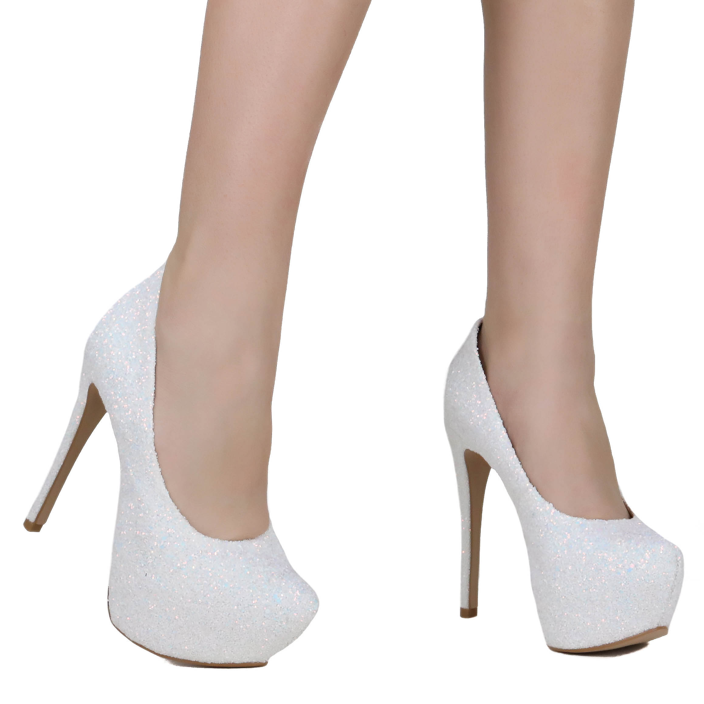 Sapato Zariff Shoes Pump Salto Fino Glitter