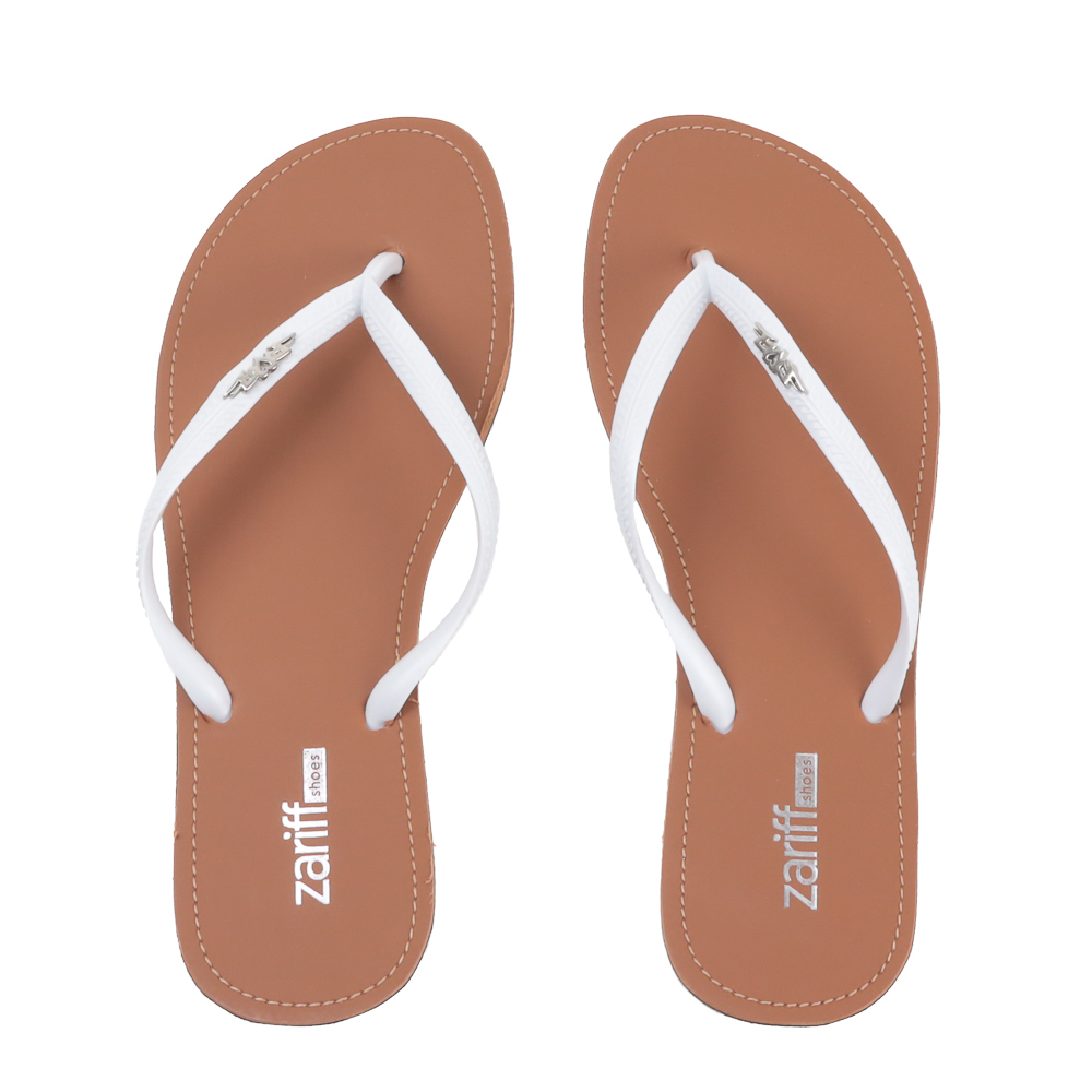 Chinelo Zariff Shoes Metal Branco