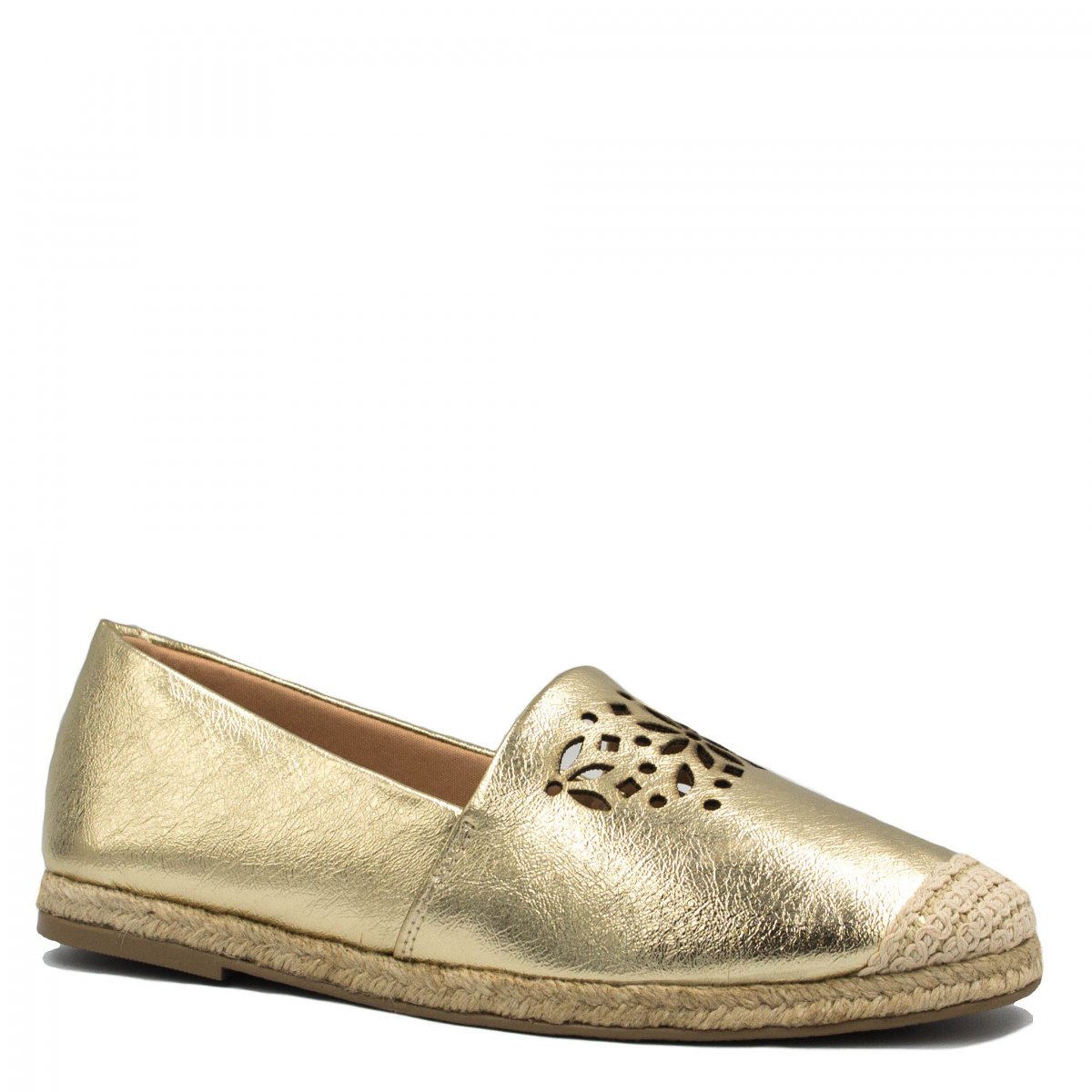 Alpargata Zariff Shoes Metalizada Corda Dourado