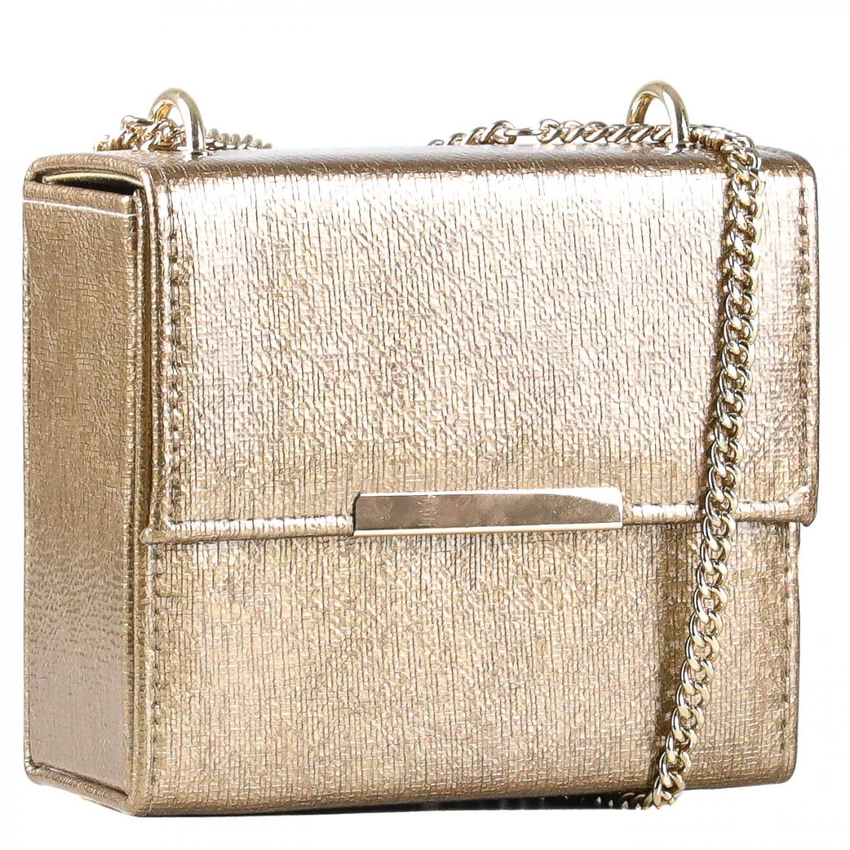 Bolsa Zariff Shoes Box Corrente Dourado