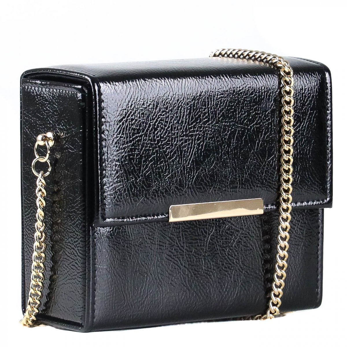 Bolsa Zariff Shoes Clutch Corrente Preto