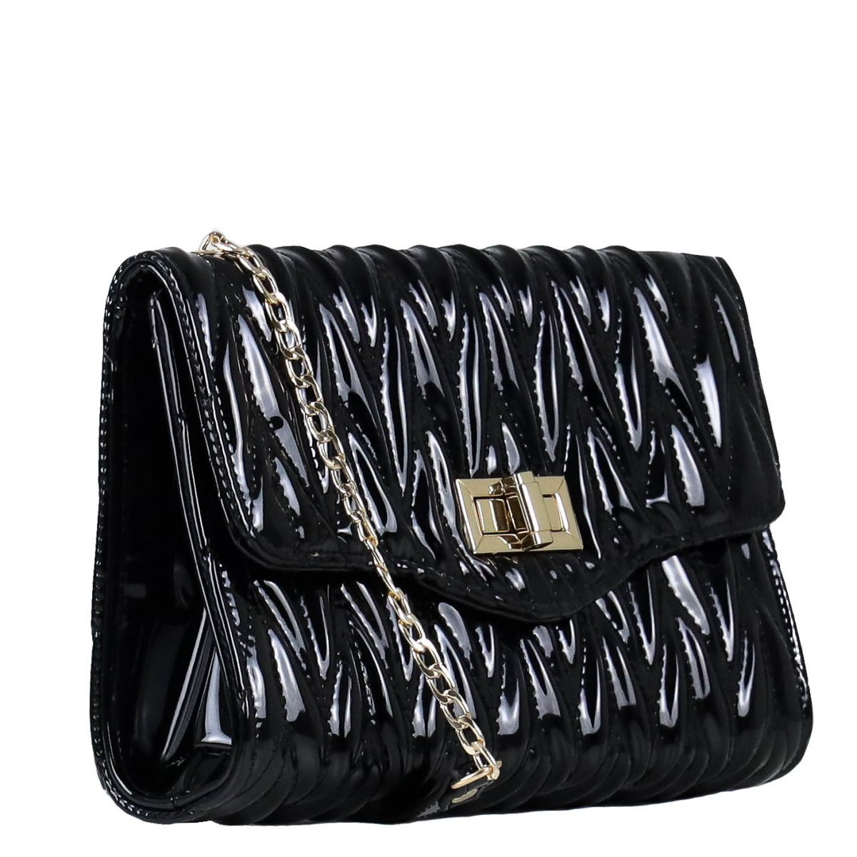 Bolsa Zariff Shoes Clutch Matelassê Preto