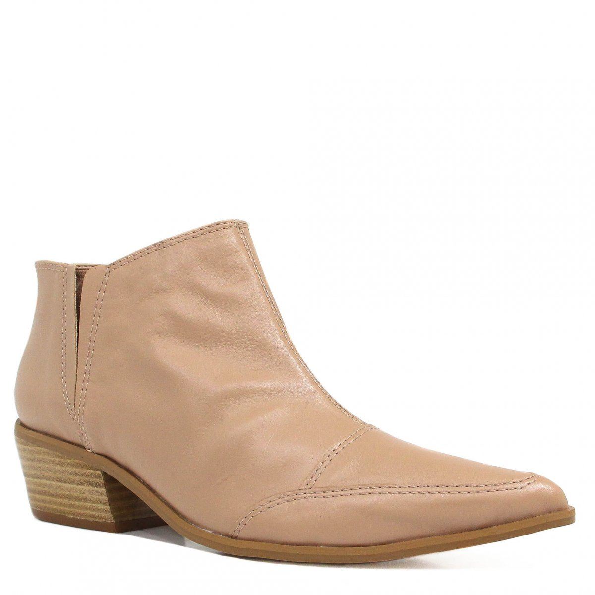 Bota Zariff Shoes Ankle Boot Couro Nude