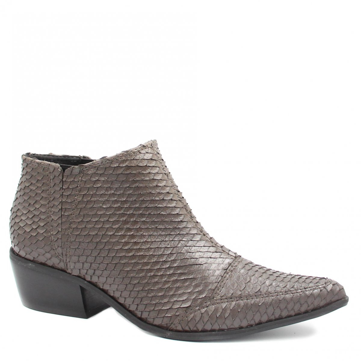 Bota Zariff Shoes Ankle Boot Couro Cinza