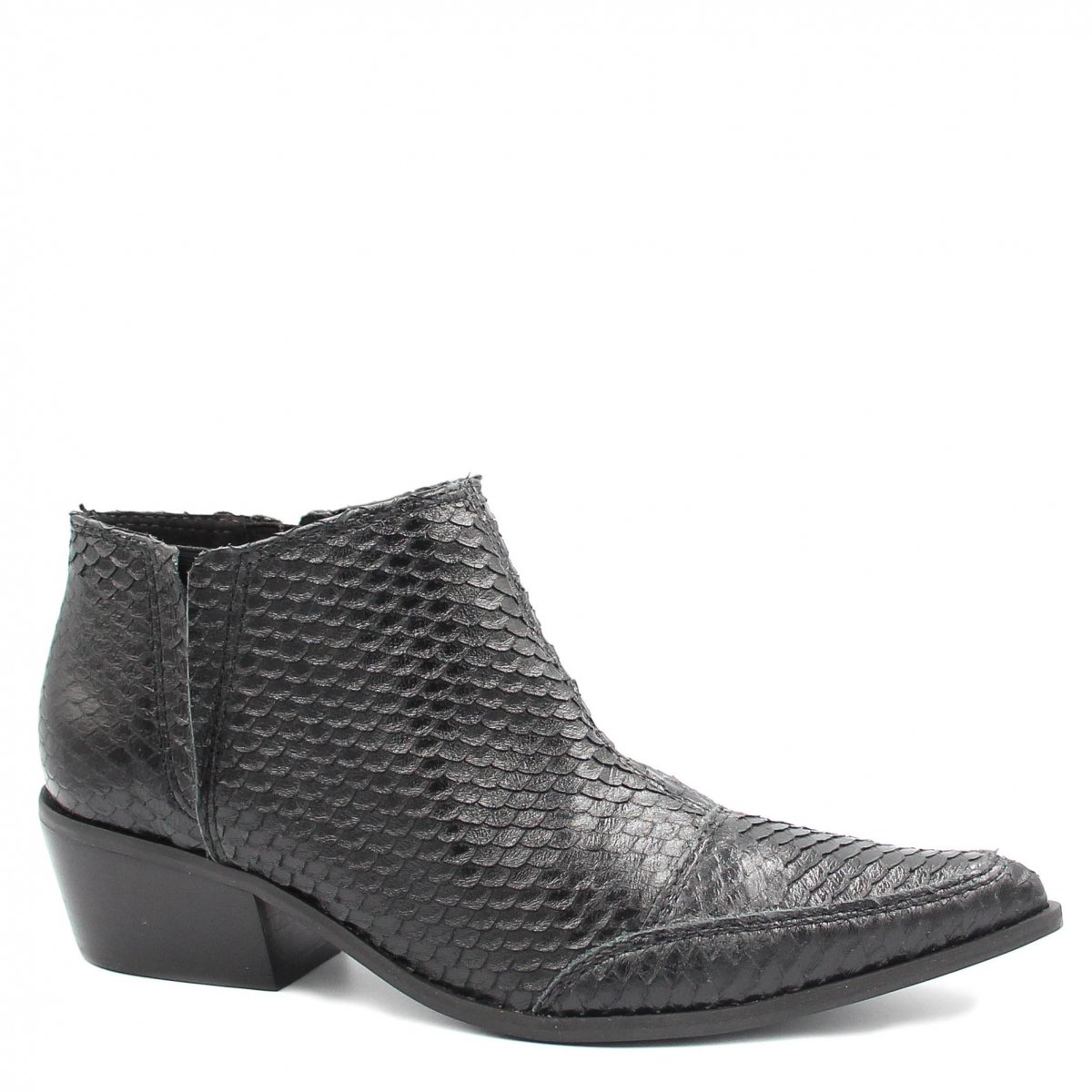 Bota Zariff Shoes Ankle Boot Couro Preto