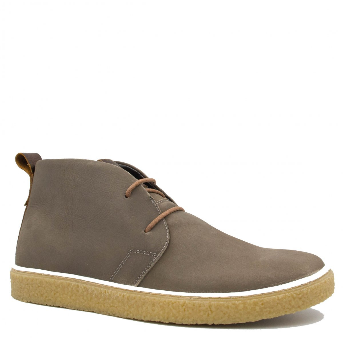 Bota Zariff Shoes Casual Solado Crepe Cinza