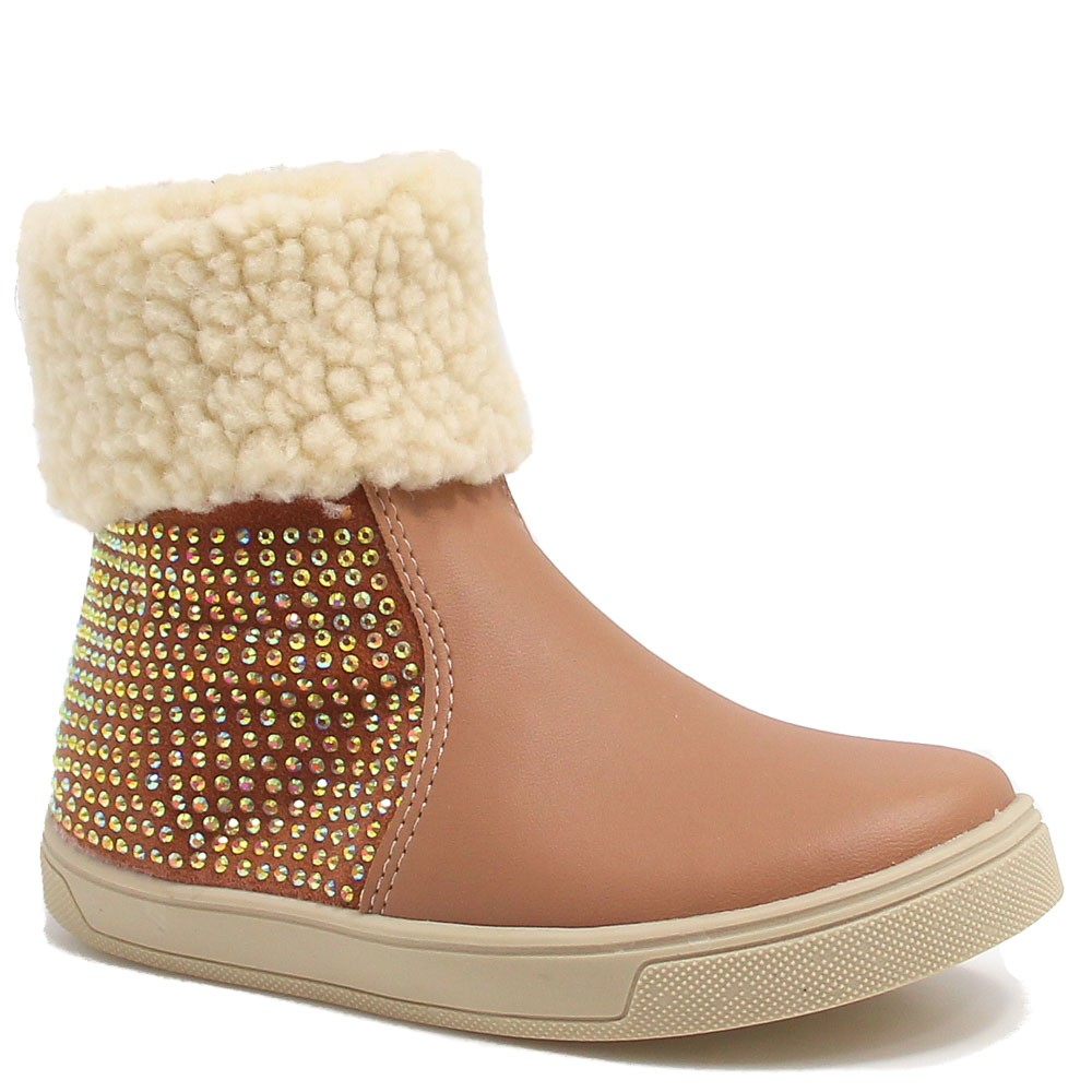Bota Zariff Shoes Baby Casual Strass Nude