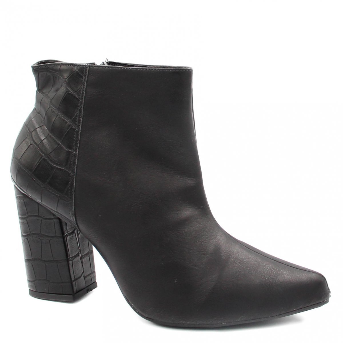 Bota Cano Curto Zariff Shoes Ankle Boot Zíper Preto