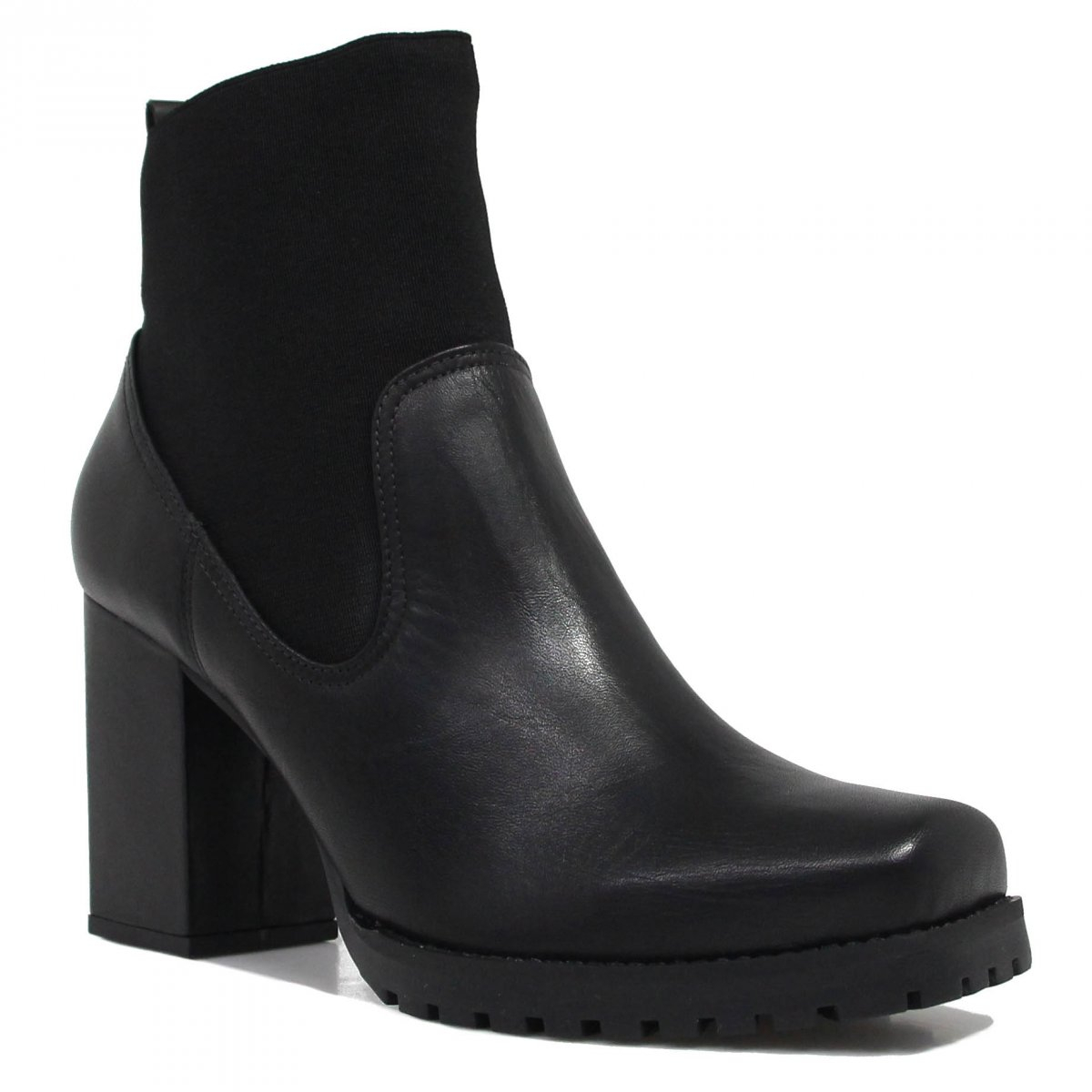 Bota Zariff Shoes Coturno Salto Preto