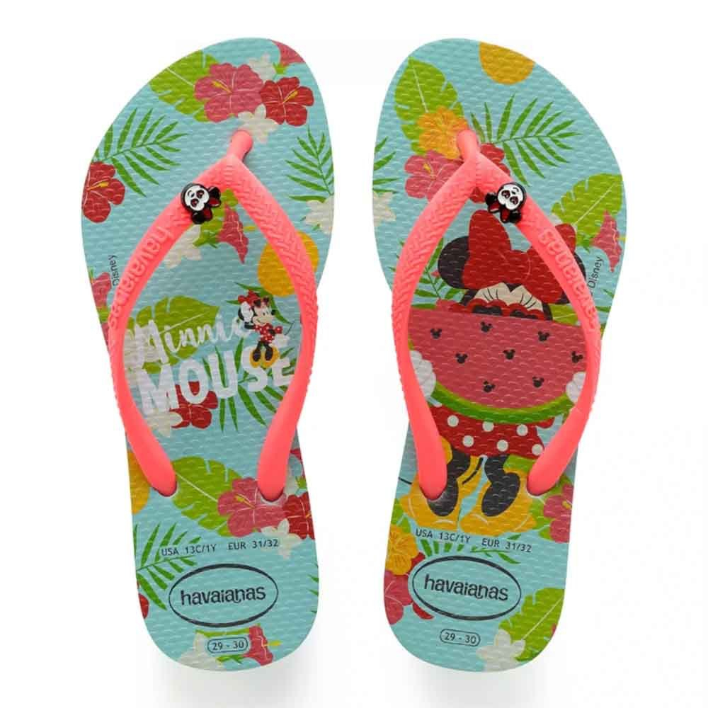 Chinelo Havaianas Infantil Minnie Disney Cool Azul