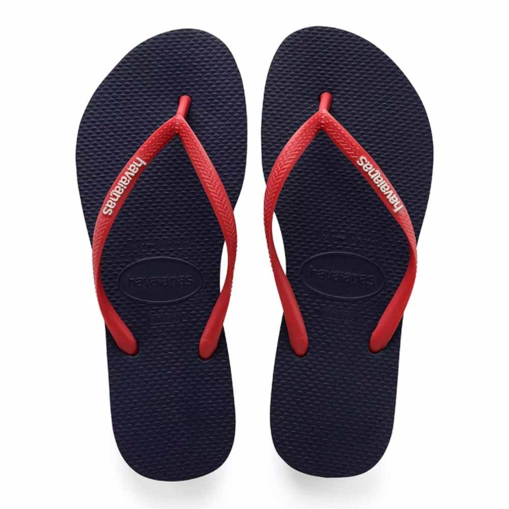 Chinelo Havaianas Slim Logo Pop Up Azul