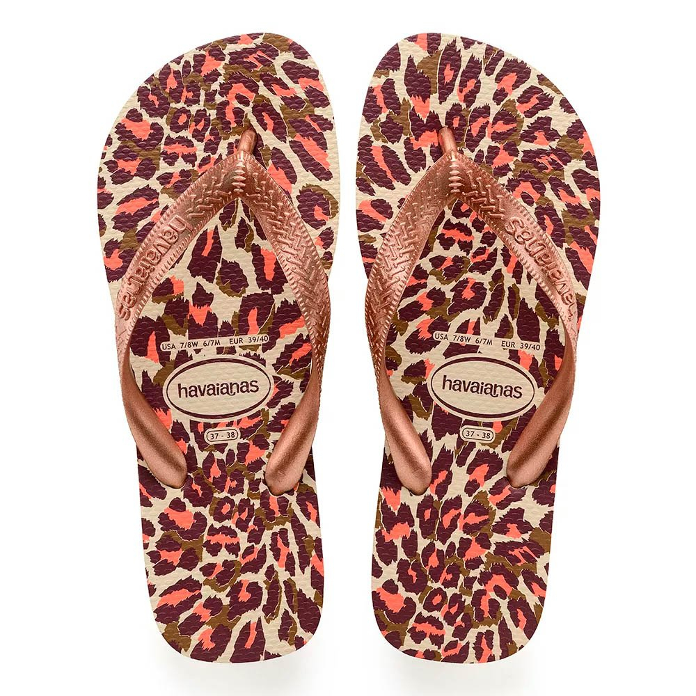 Chinelo Havaianas Top Animals Nude