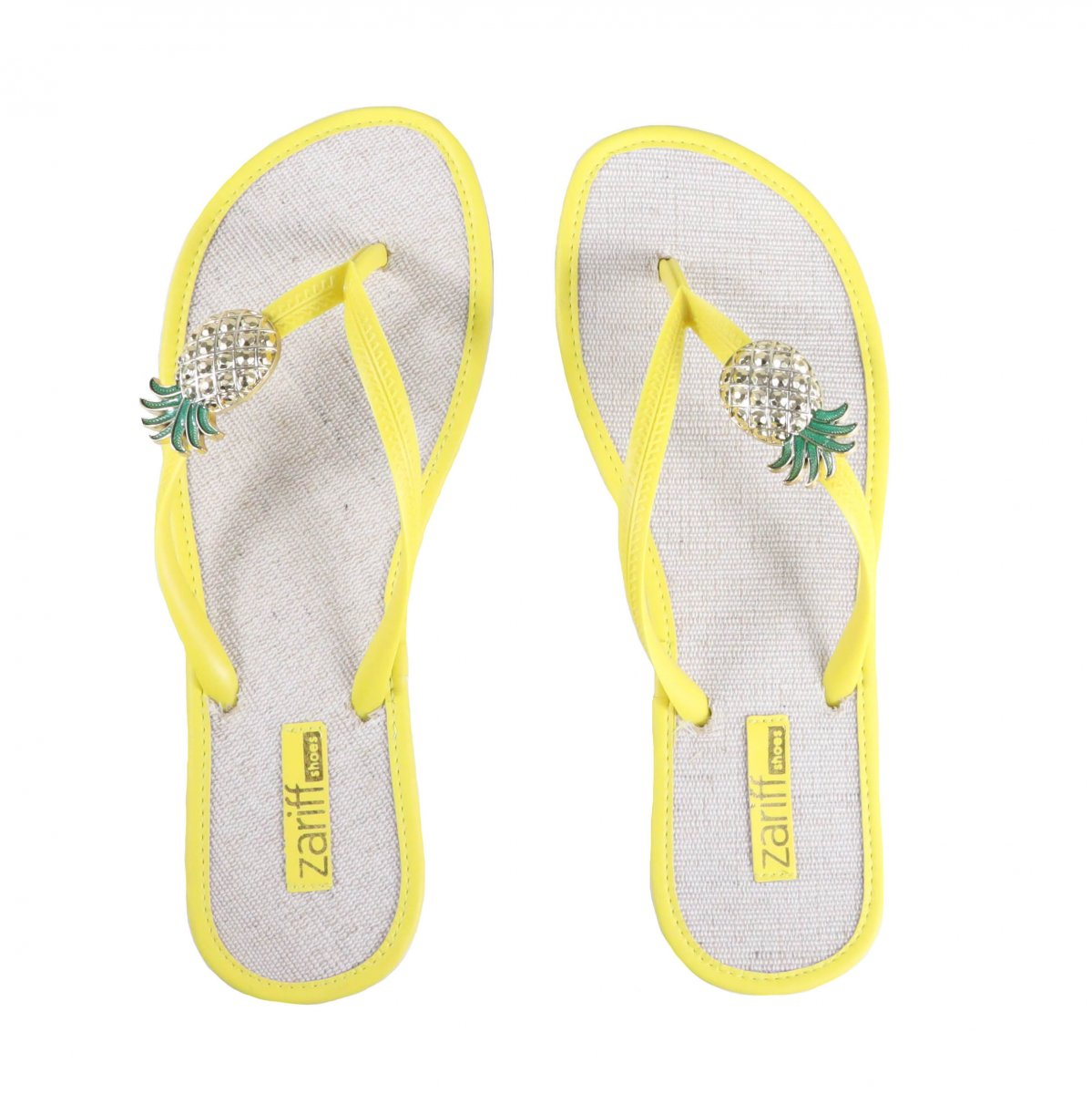 Chinelo Zariff Shoes Casual Abacaxi Amarelo