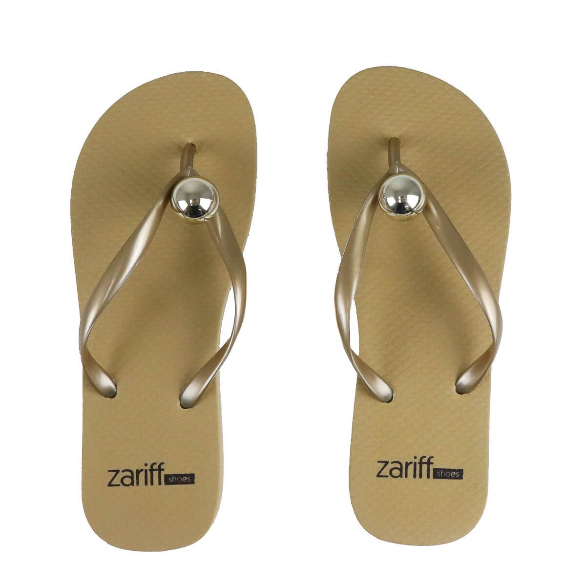 Chinelo Zariff Shoes Estampa Dourado