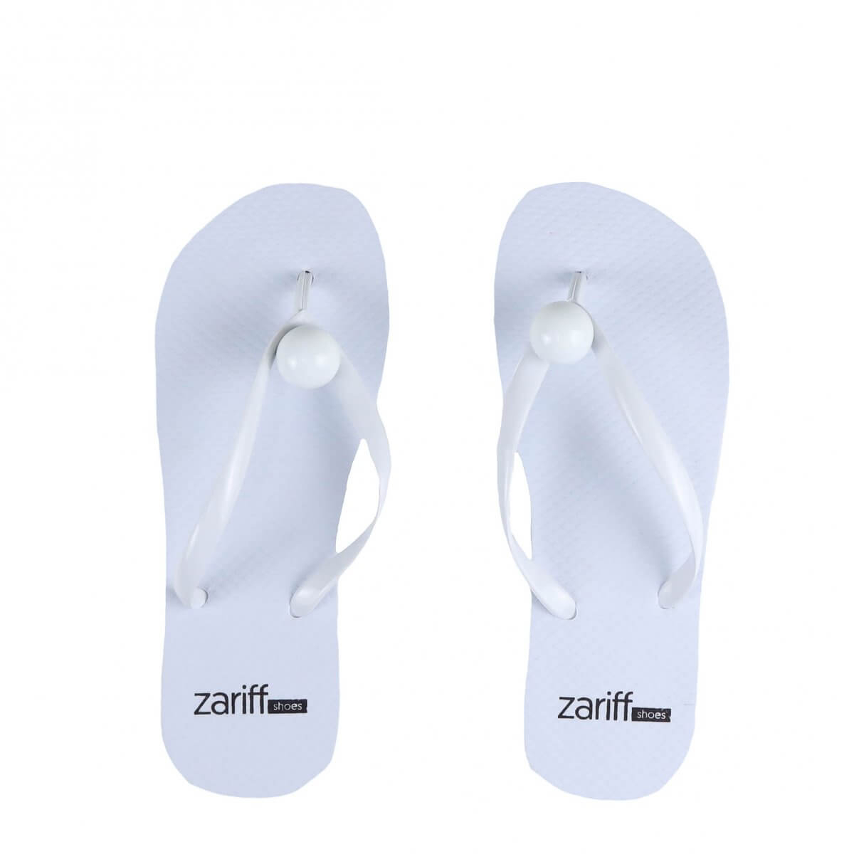 Chinelo Zariff Shoes Estampa Branco
