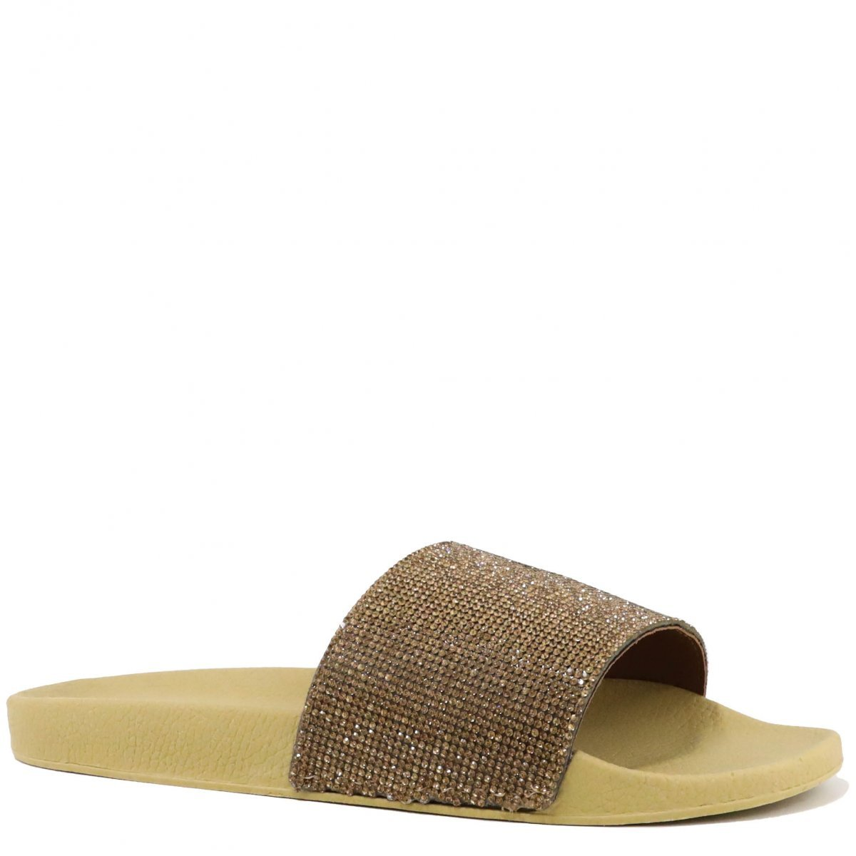 Chinelo Zariff Shoes Slide Casual Dourado