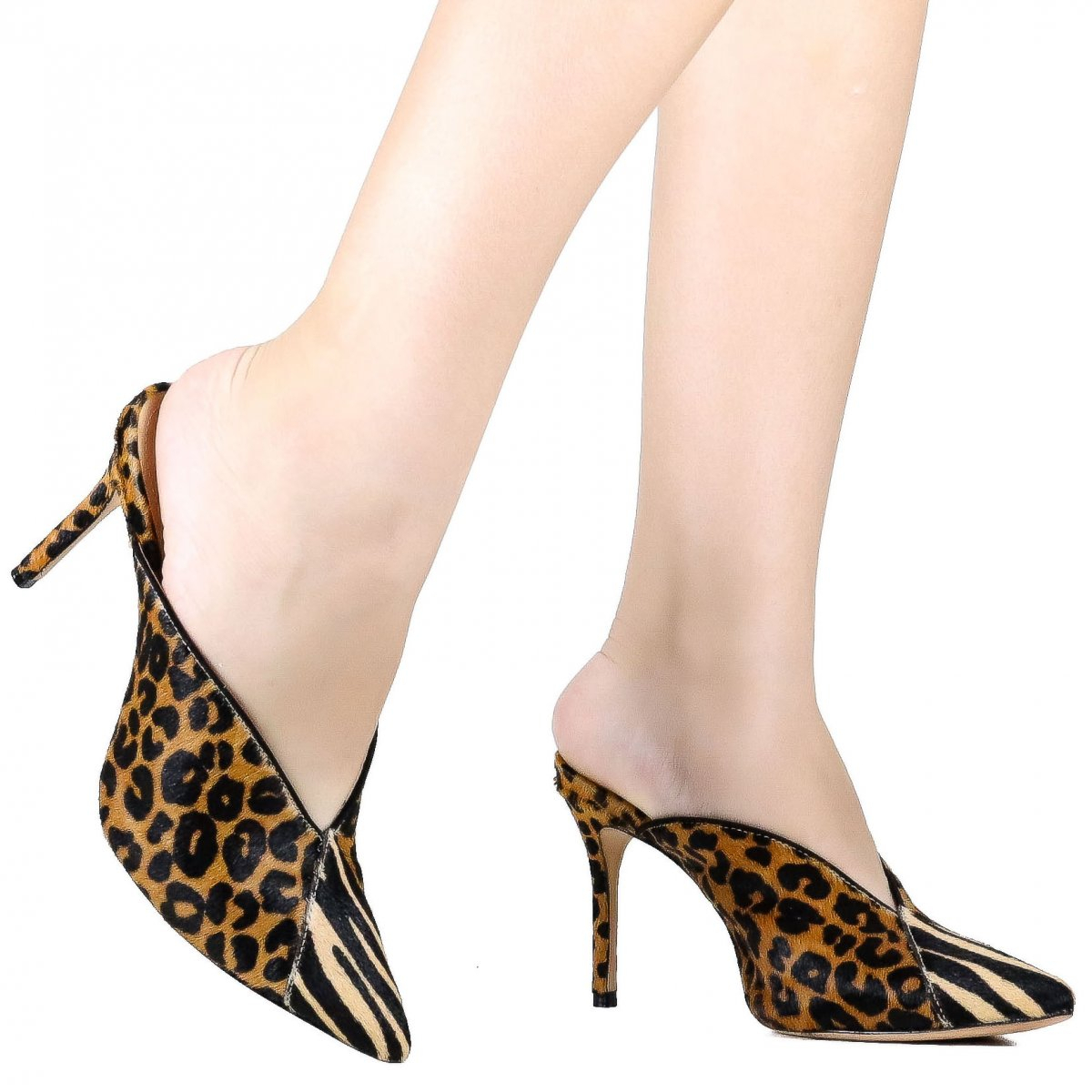 Mule Schutz Salto Animal Print Mix Marrom