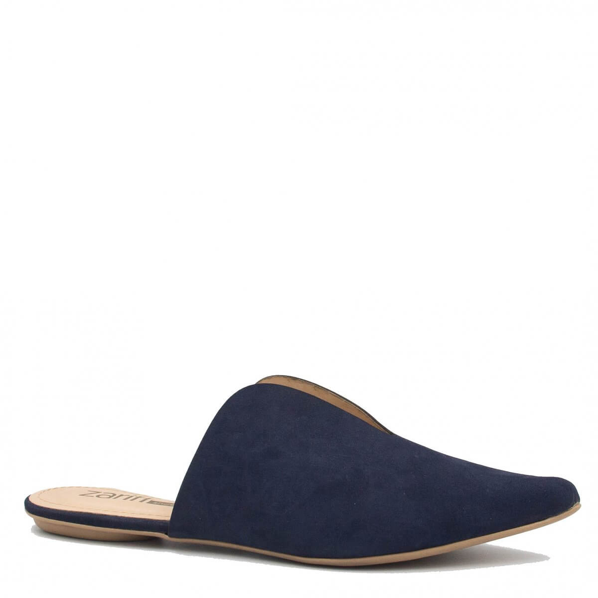 Mule Zariff Shoes Bico Fino Azul
