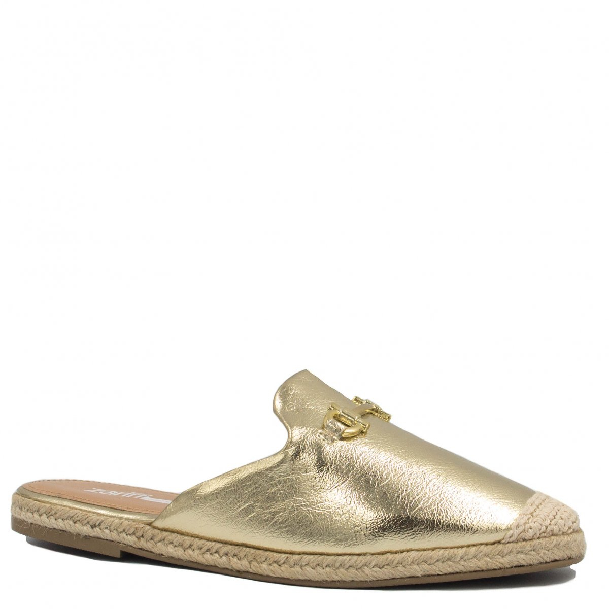 Mule Zariff Shoes Casual Corda Dourado
