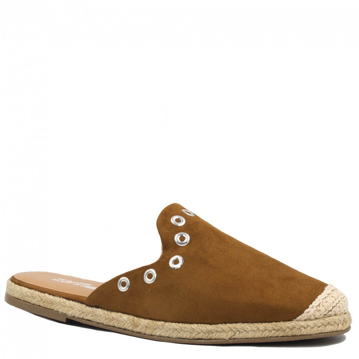 Mule Zariff Shoes Casual Corda Marrom