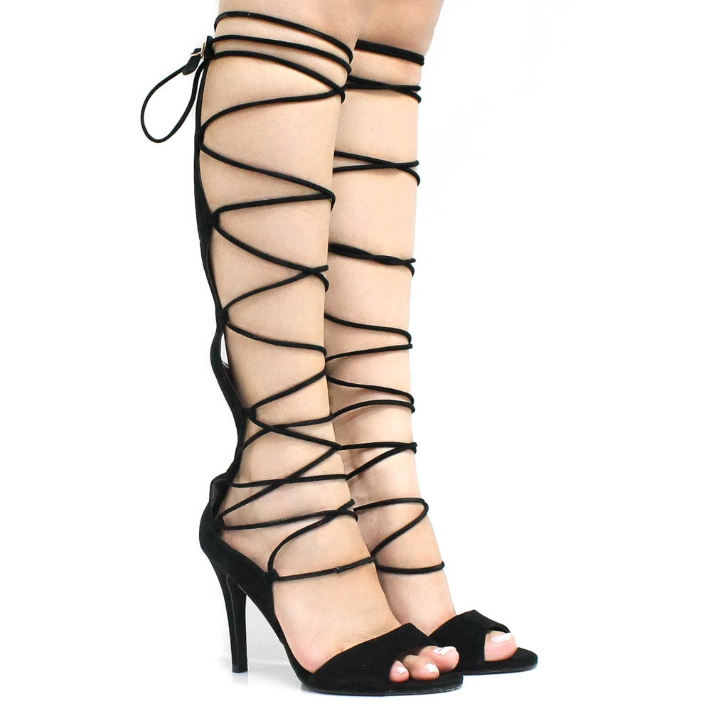 Sandália Zariff Shoes Lace Up Preto