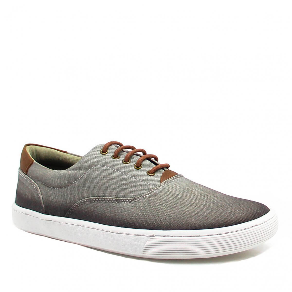 Sapatênis Casual Zariff Shoes Jeans Cinza