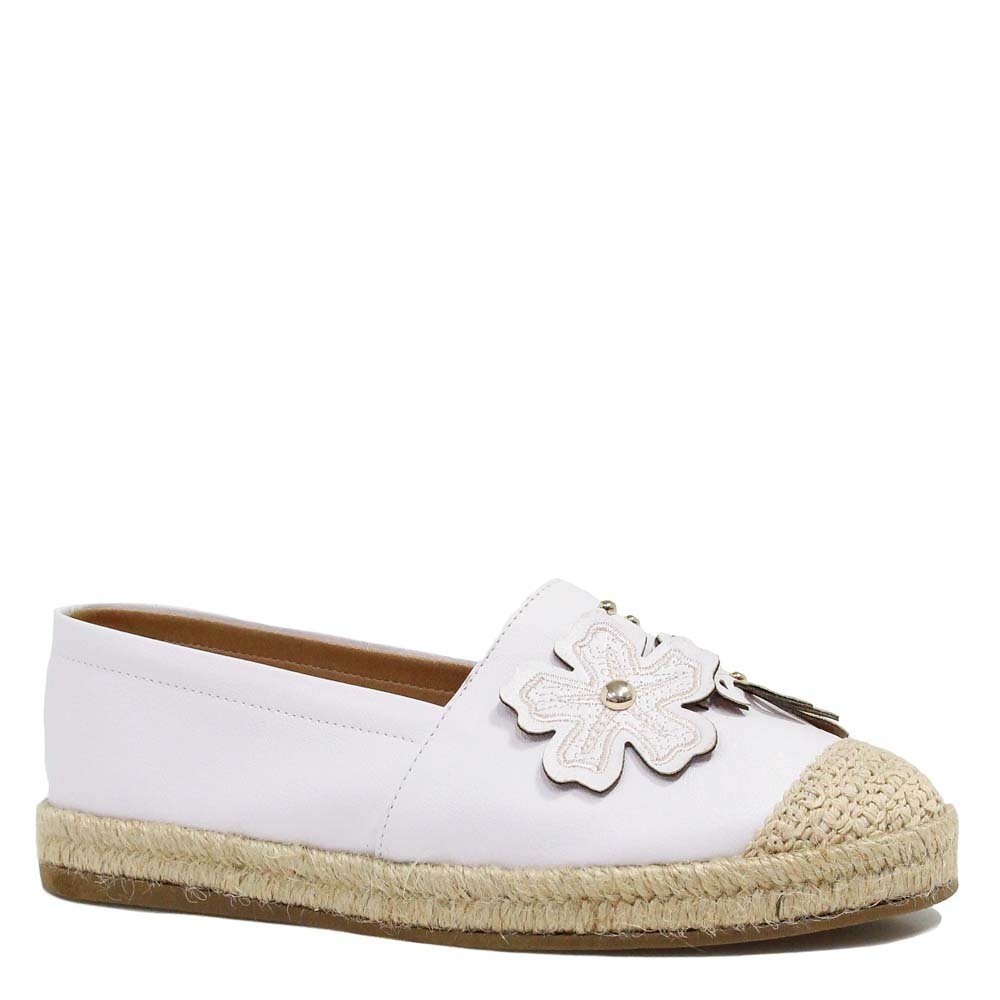 Alpargata Zariff Shoes Espadrille Flor Branco