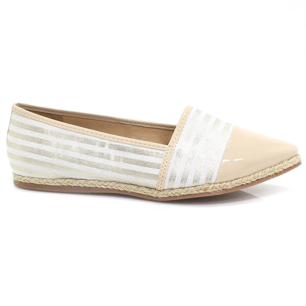 Sapatilha Zariff Shoes Alpargata Espadrille Nude