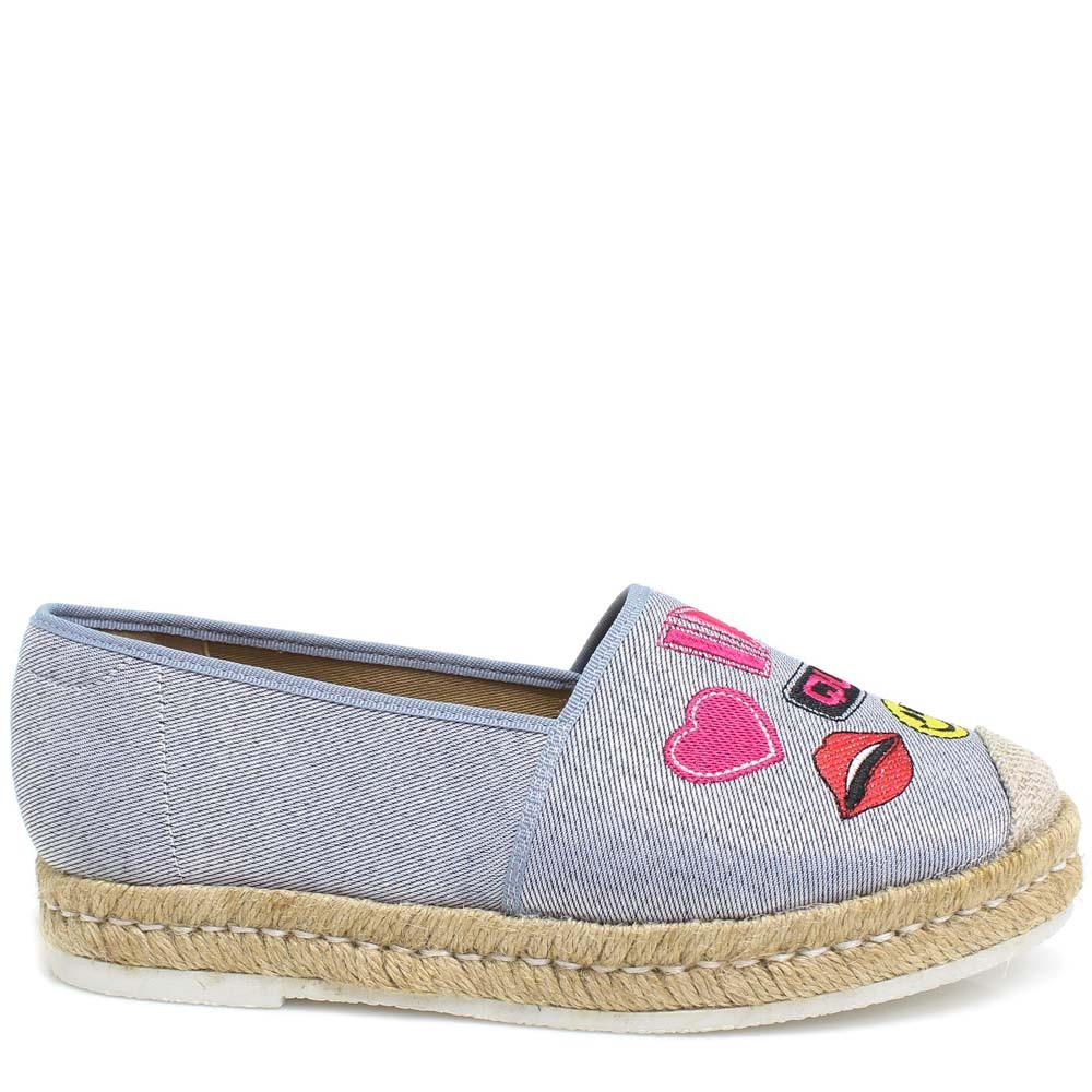 Alpargata Espadrille Zariff Shoes Patches Azul