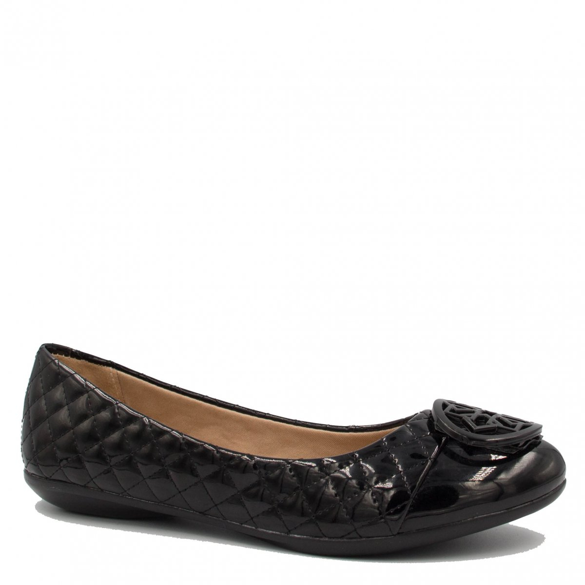 Sapatilha Zariff Shoes Cap Toe Verniz Preto