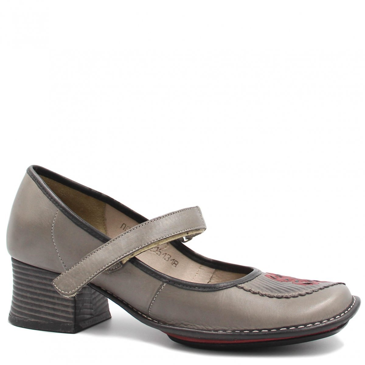 Sapato J.Gean Casual New Kelly em Couro Cinza
