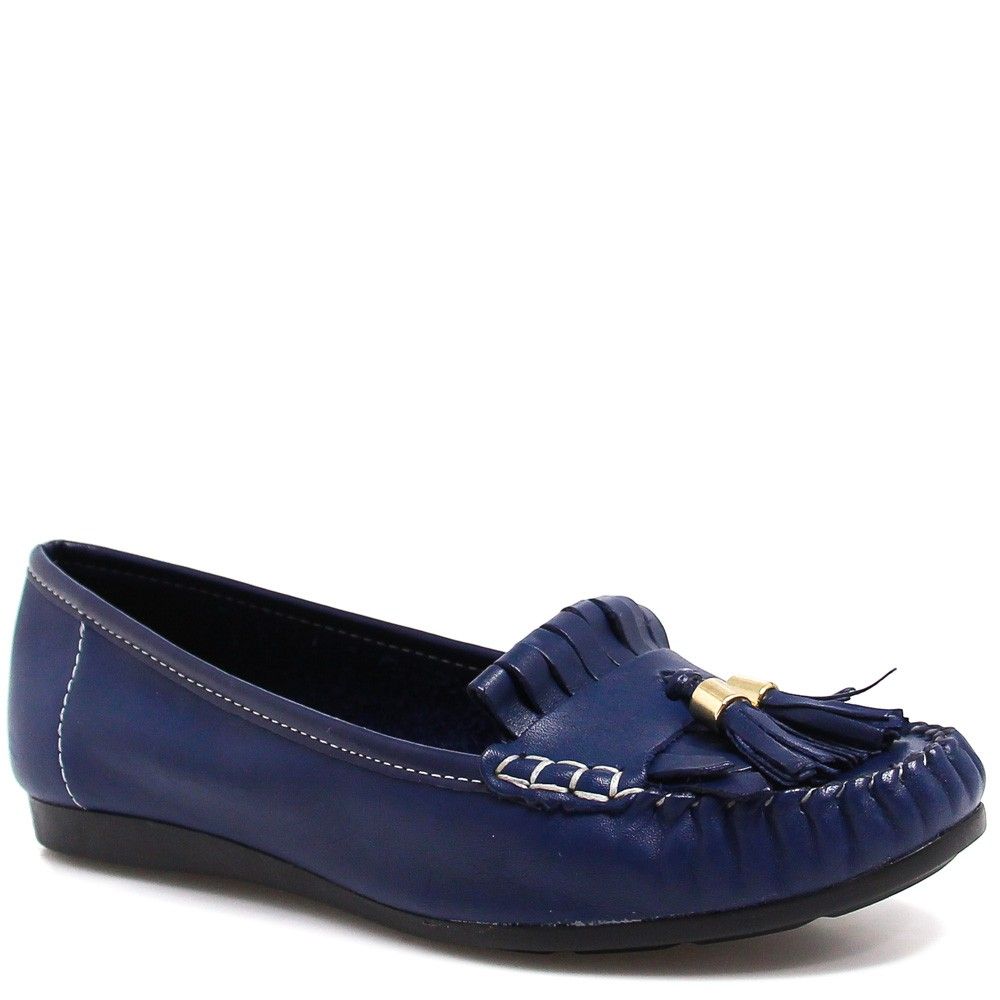 Sapato Mocassim Zariff Shoes Barbicacho Azul