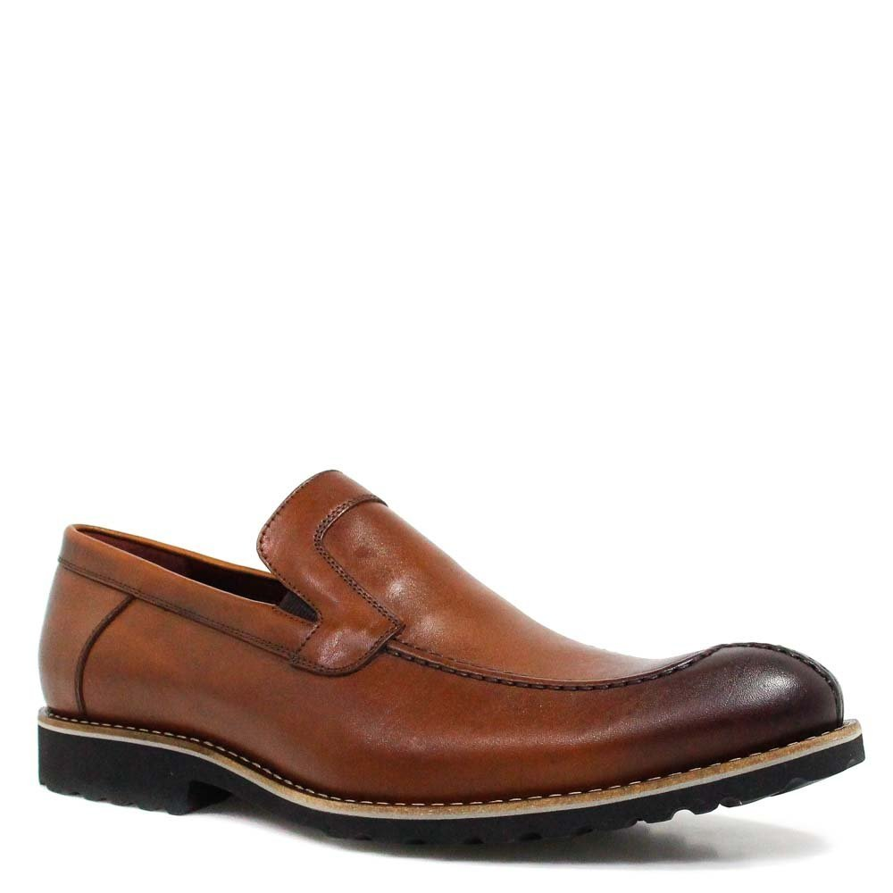 Sapato Zariff by Albanese Loafer Couro Marrom