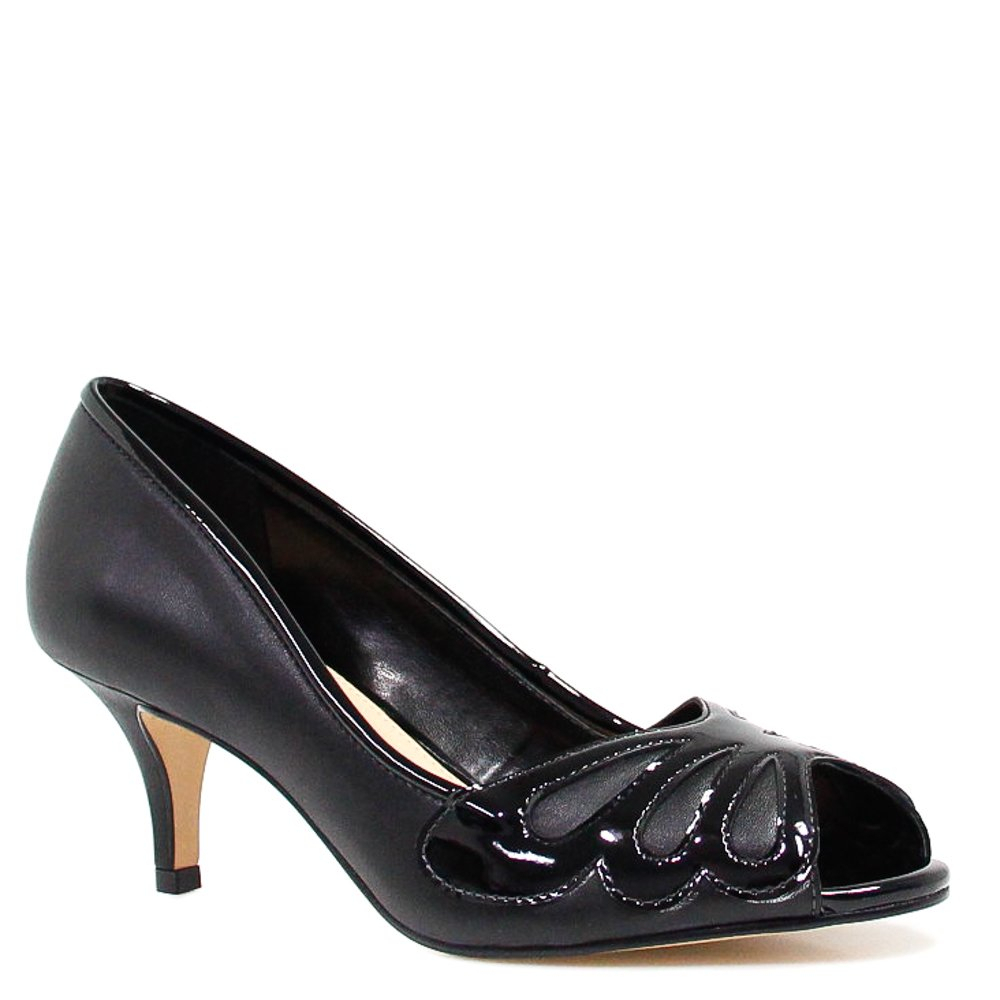 Sapato Zariff Shoes Peep Toe Salto Preto