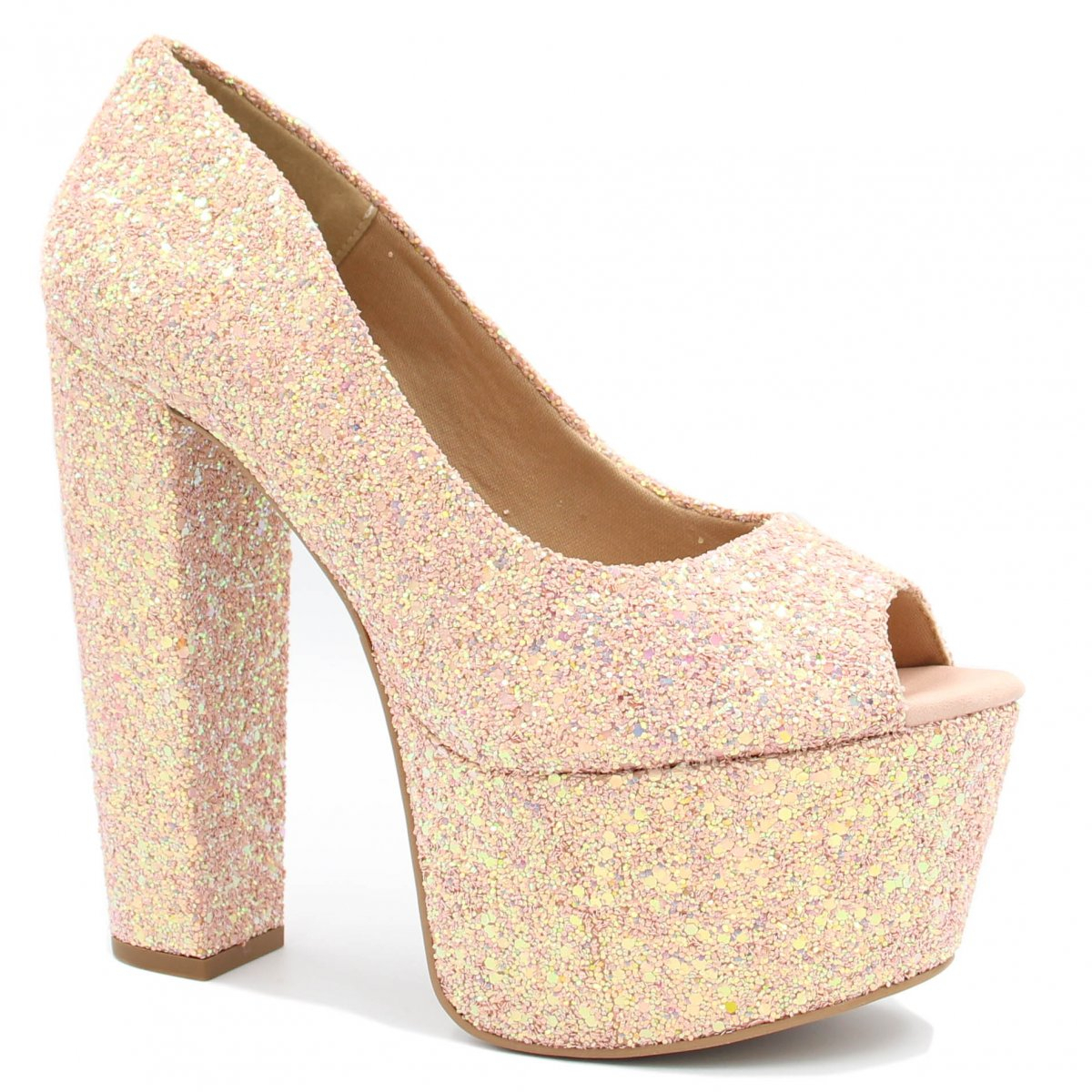 Sapato Zariff Shoes Peep Toe Salto Alto Rosa