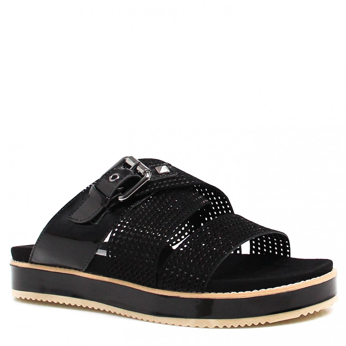 Tamanco Zariff Shoes Birken Fivela Preto