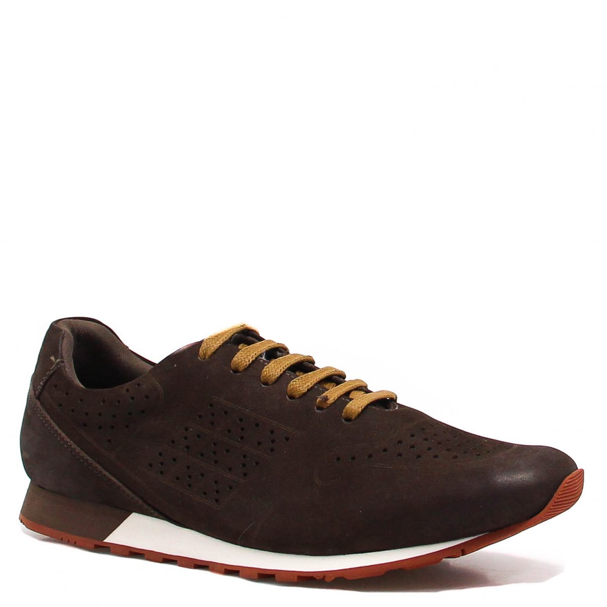 Sapatênis Zariff Shoes Casual Couro Marrom