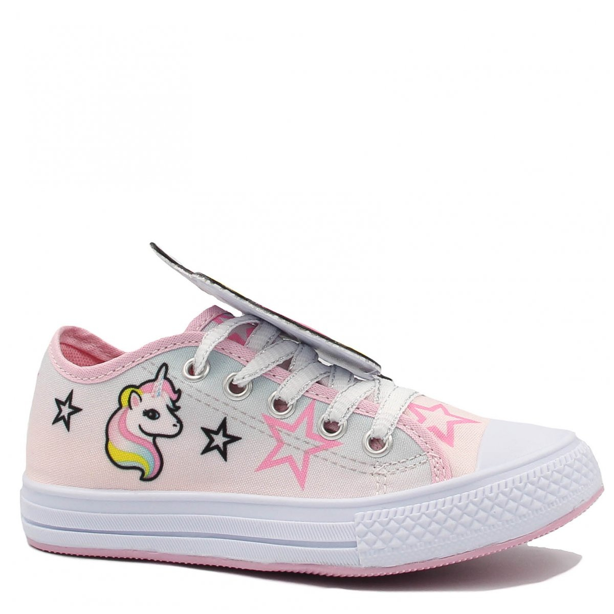 Tênis Infantil Zariff Shoes Casual Unicórnio Rosa