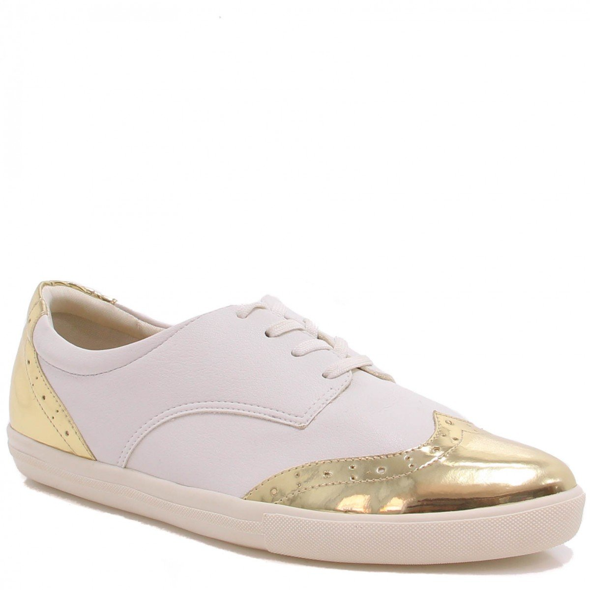 Sapato Oxford Zariff Shoes Brogue Branco