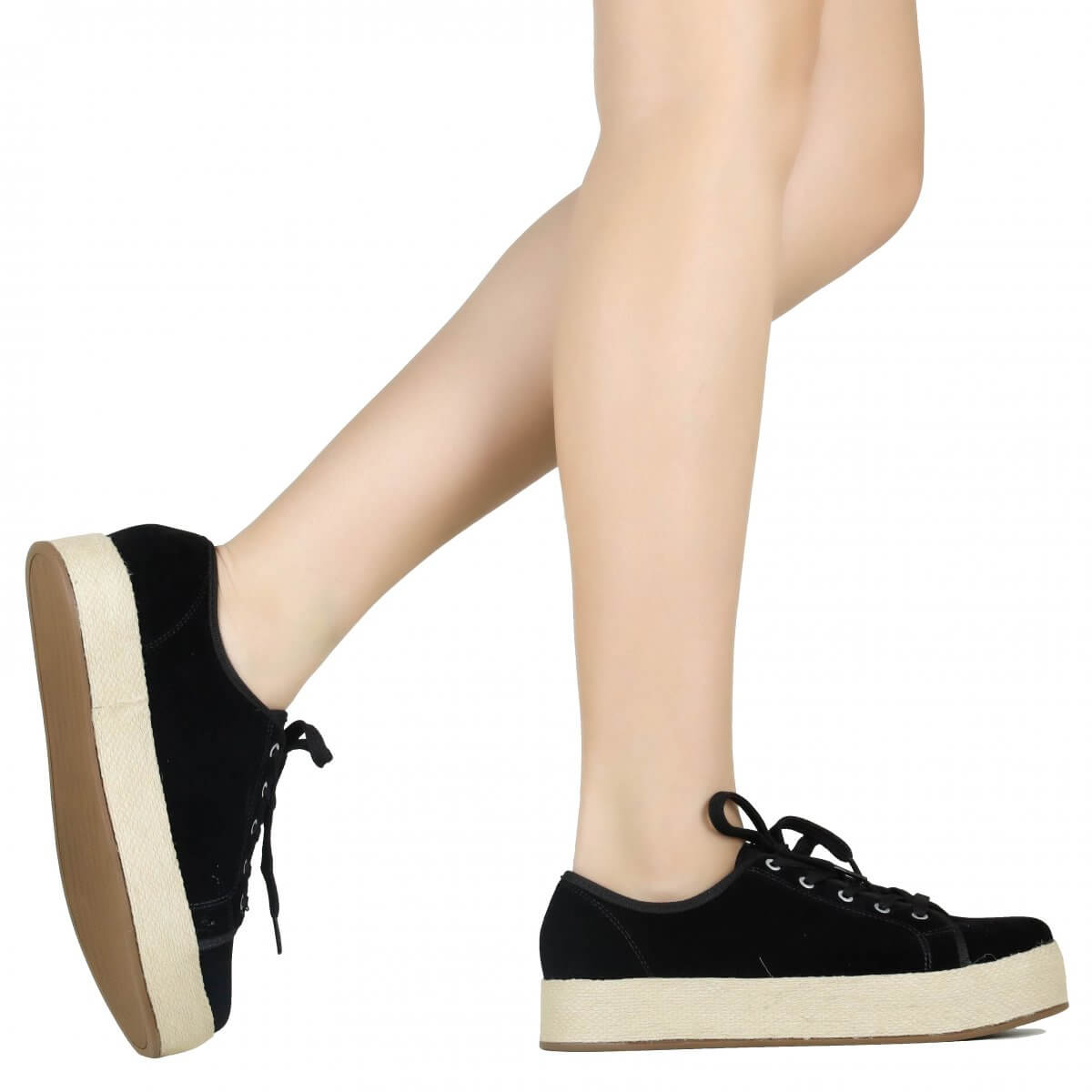 Tênis Zariff Shoes Casual Espadrille Preto