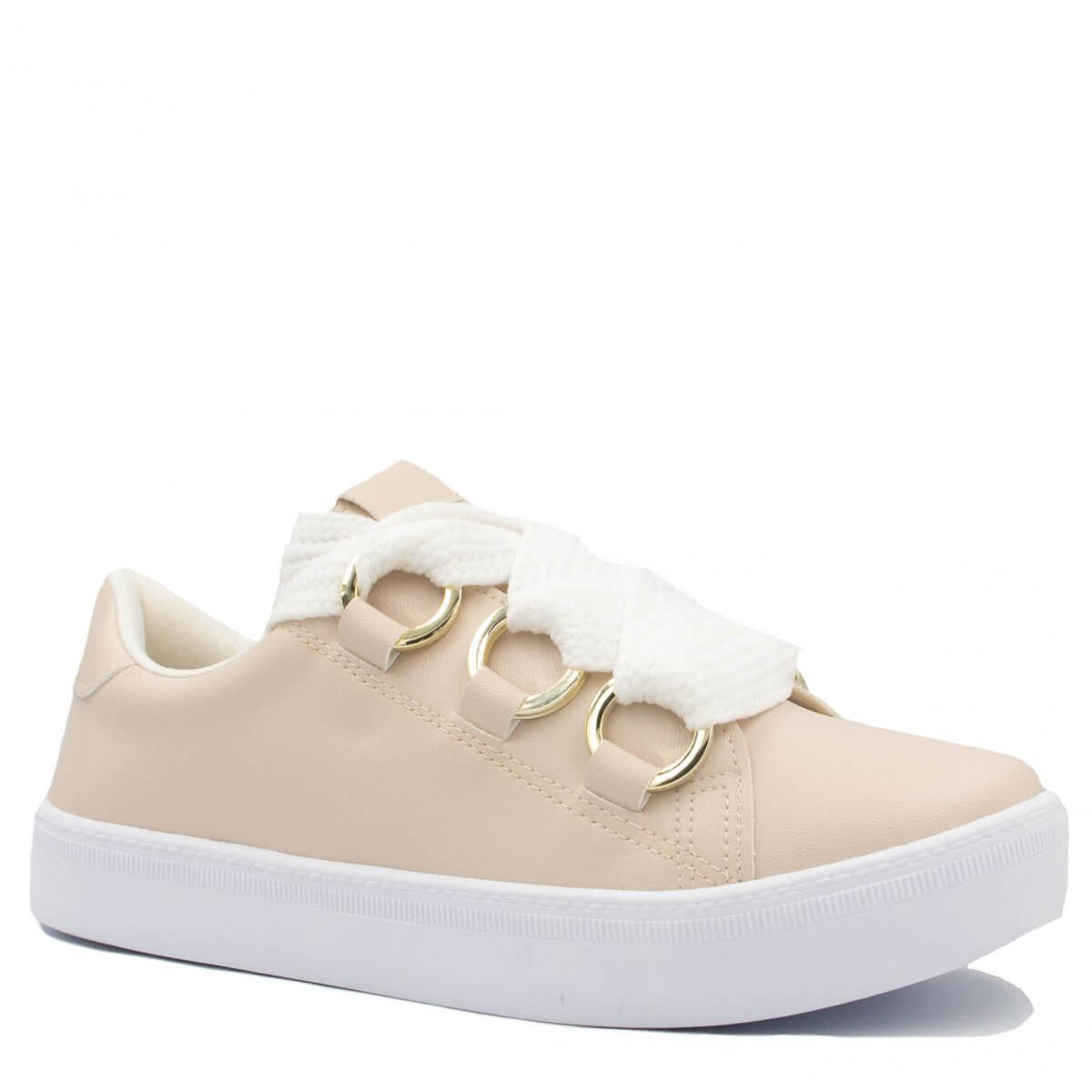 Tênis Zariff Shoes Flatform Metais Nude