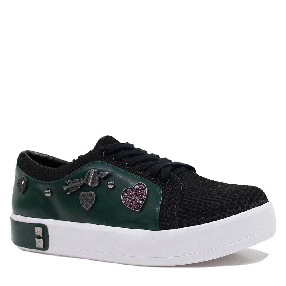 Tenis Zariff Shoes Flatform Metais Preto